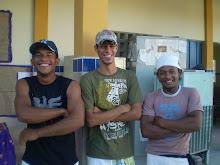 Os capoeiristas da escola