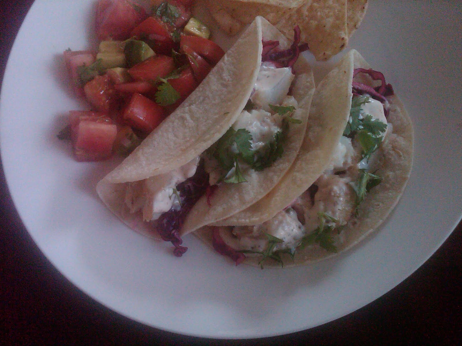 Vie fish tacos w spicy red cabbage a cool for White fish tacos