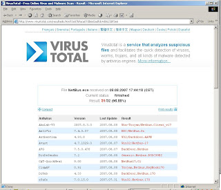 Scan NetBus with VirusTotal