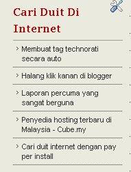 cari duit di internet