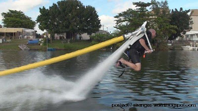 water propelled jetpack @ strange world