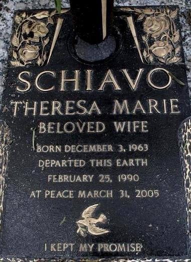 Terri Shiavos gravsten