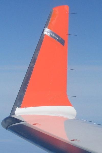 Fly-vinge med 'gaffa-tape'