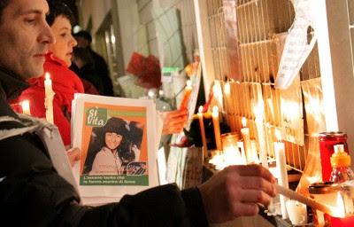 Fra katolske protester mod Eluana Englaros ret til at dø