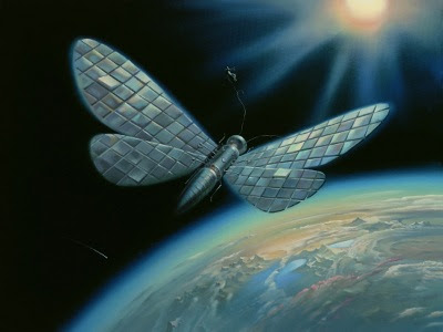Winged satellite by Vladimir Kush