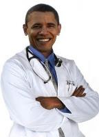Obama i lægedragt