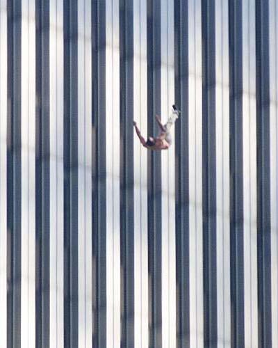 På vej mod døden ved selvmord, fra World Trade Center 2001