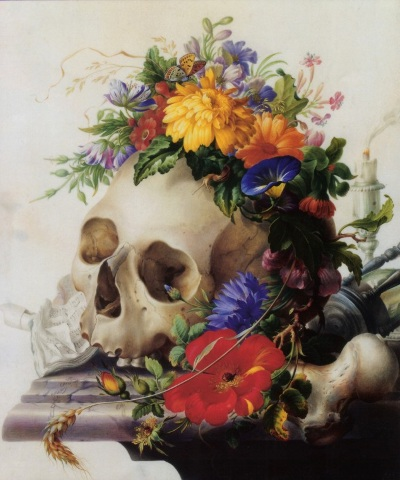 Vanitas Still-life by Herman Henstenburgh