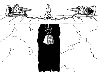 Bunny suicides - by garden gnomes
