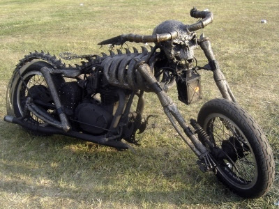Skelet motorcykel