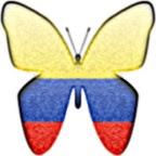 Colombia flag som sommerfugl