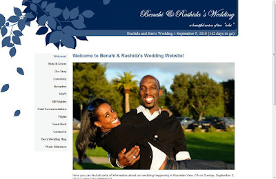 Wedding Site on Screenshot Of Ben   Rashida S Wedding Website  Benandrashida Com