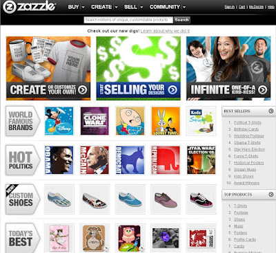 ZAZZLE's new look