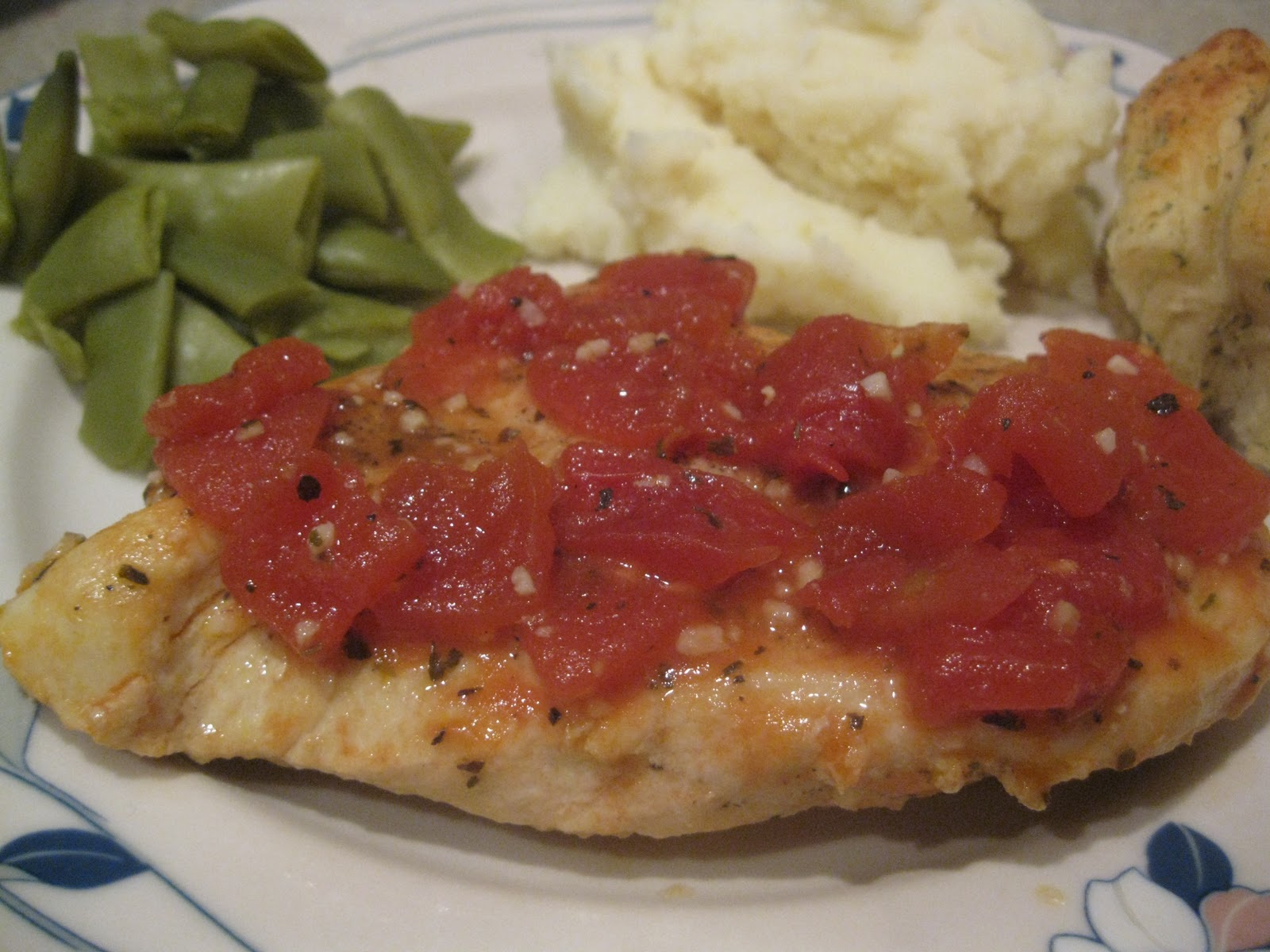 I Hope You're Hungry: Chicken with Tomatoes and Garlic
