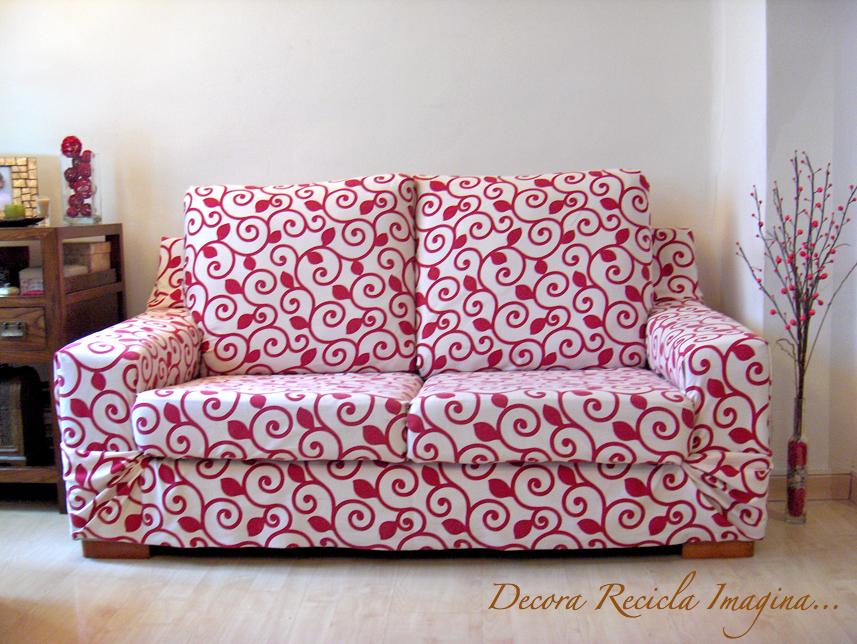 Decora recicla imagina antes y despu s en 3 minutos - Como hacer una funda para un sofa ...