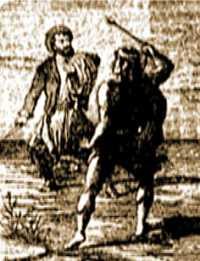 Juan Moreira pelea con Coliqueo