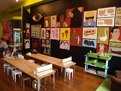 Interior of smash cake a bakery coffee shop children s birthday party