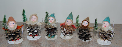 Necessary Japan vintage elf ornaments