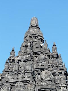Climbing Prambanan Temple, Yogyakarta