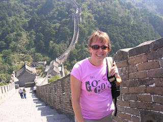 Vagabond Mom on Great Wall of China