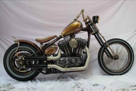 Harley Bermotif Batik dan Candi modification