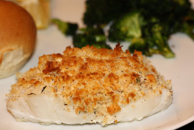 what's for dinner?: baked fish with herbed breadcrumbs... 30 minutes