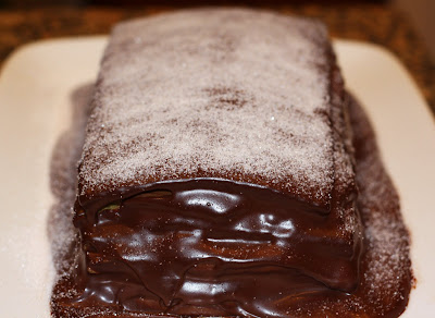 sunday sweets: glazed chocolate layer cake