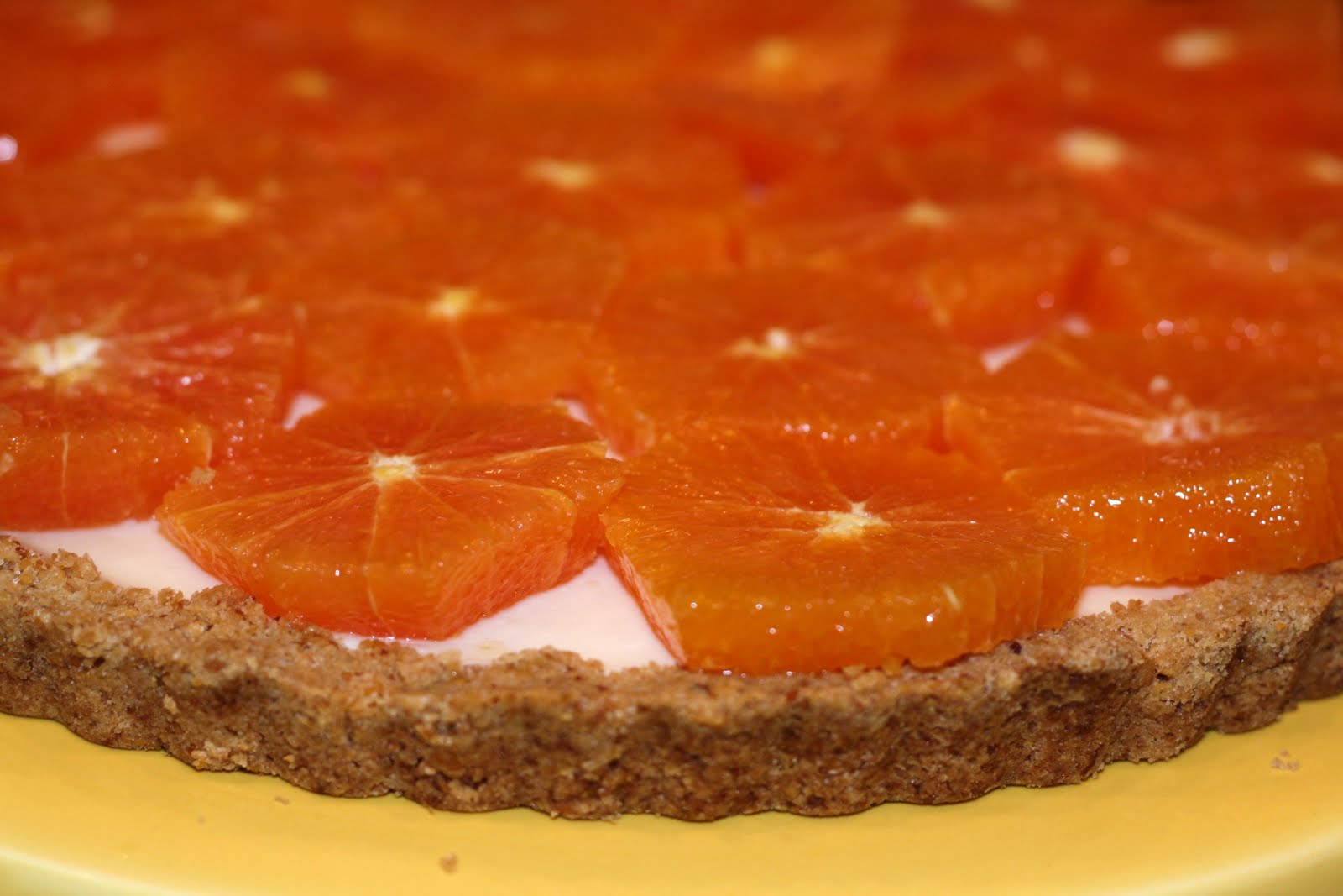 sunday sweets: fresh orange and yogurt tart