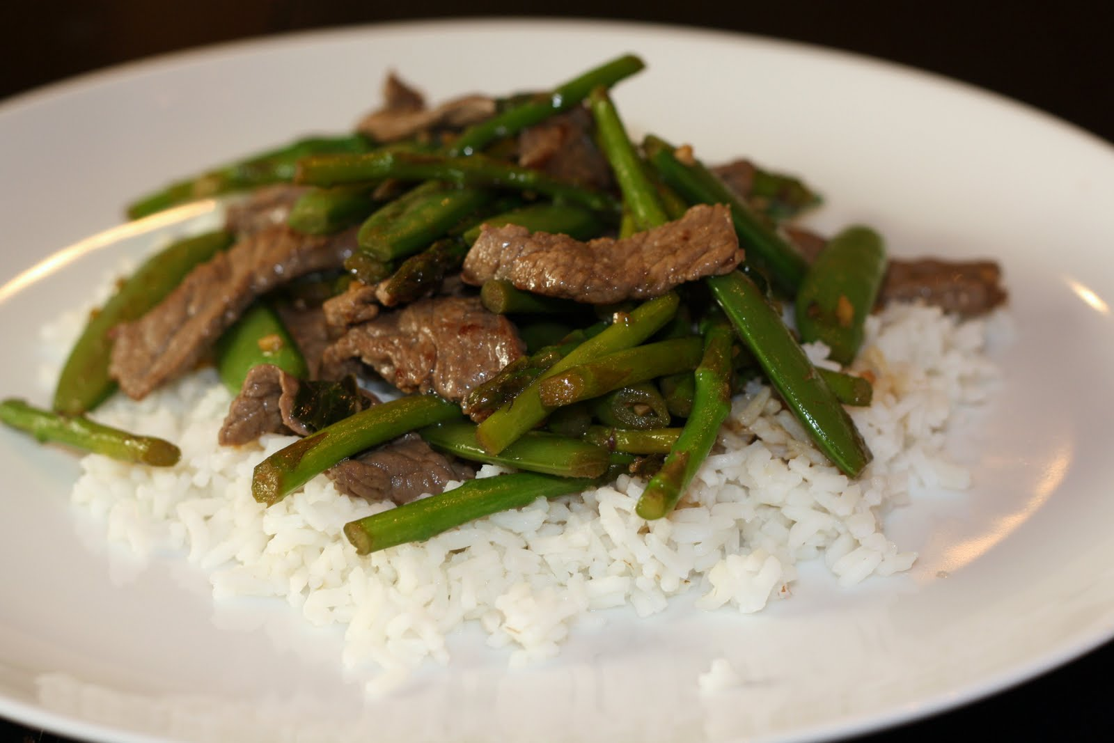 ... for dinner?: beef, snap pea, and asparagus stir-fry... 15 minutes