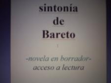 SNTONÍA DE BARETO (novela en borrador)