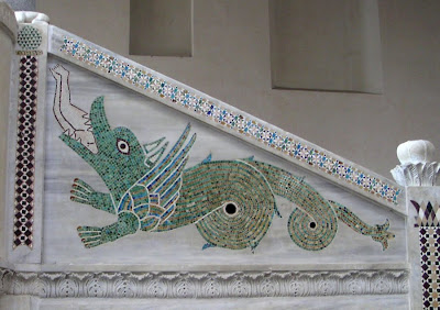 Man-eating Serpent, inside a church in Ravello, Italy