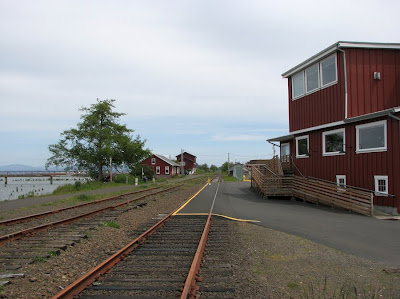 Tyack Dental Group, Railroad Tracks and the River Walk, Astoria, Oregon