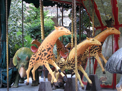 Sivatheria (Sivatherium) on the Dodo Carousel, Paris, France