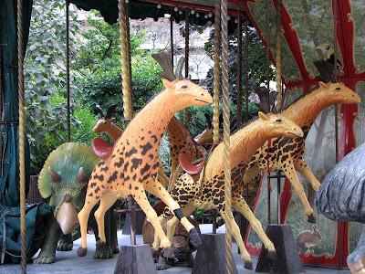 Sivatheria (Sivatherium) on the Dodo Carousel, Paris, France