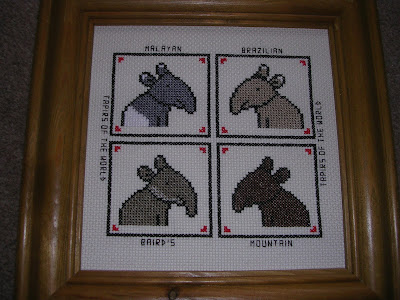 Tapirs of the World Cross Stitch by Sarah C - Four Tapir Species