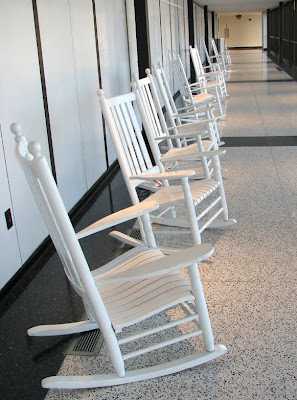 Empty Rocking Chairs, Logan International Airport, Boston