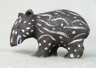 Tapircito, Baby Mountain Tapir, Made of Resin by Sergio Sandoval