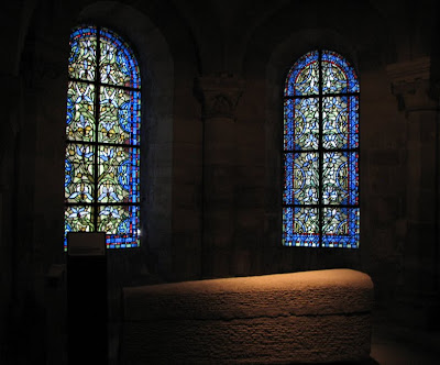 Sarcophagus and Leaded Glass, St. Denis Crypt, France