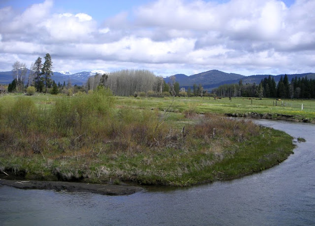Meadows and mountains - a few miles south of Crater Lake, Oregon