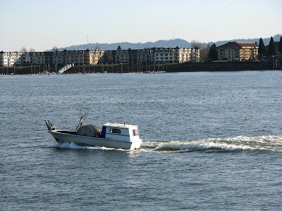 A fishing boat on the Columbia River