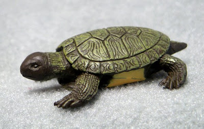 Toy turtle: Freshwater turtle made of plastic