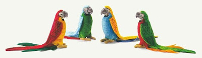Plush stuffed parrot toy or collectible