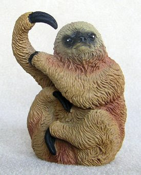 Plastic sloth, toy sloth