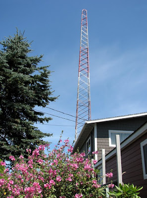 Radio Tower and Old Radio Station Building, Astoria, Oregon