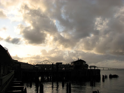Clouds over the Columbia River, Astoria, Oregon