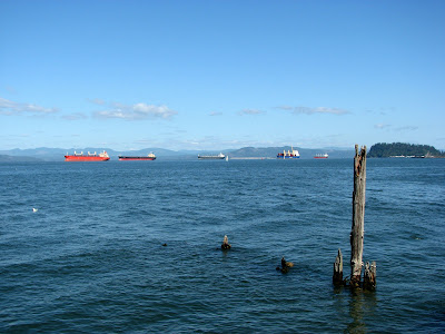 Ships on the Columbia River