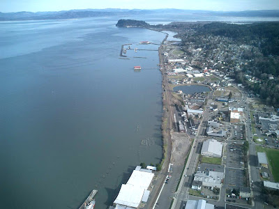 Aerial Photo By Frank Wolfe, Astoria, Oregon