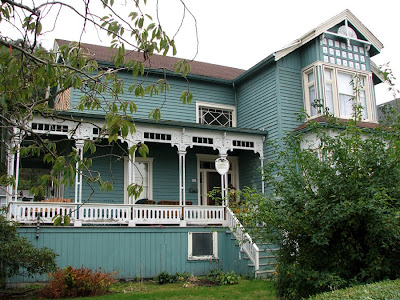 The Victorian Hobson House on Bond Street, Astoria, Oregon