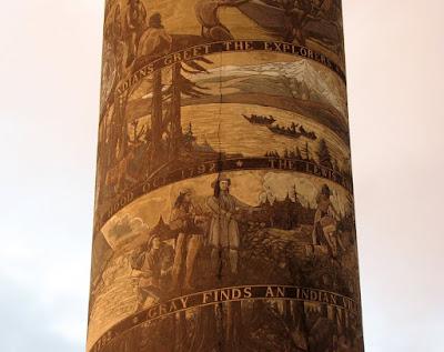 Astoria Column Murals including Lewis and Clark