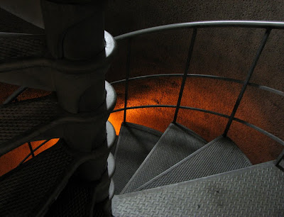 Eerie Light inside the Astoria Column - Spiral Stairway